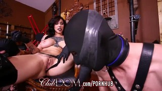 Femdom Goddess Dildo Fucked Then Fucks Slaves Ass