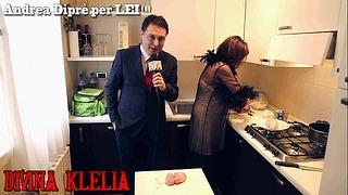 Paní Divina Klelia ničí a vaří pár varlat pro Andrea Diprè