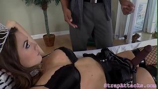 Strapon Loving Dominatrix Disciplines Her Bf