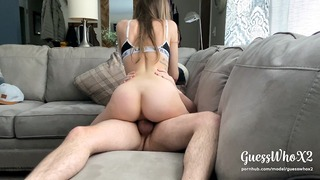Pawg Teeny Riding For Creampie, Fingers Hers With With Sperm On Mom + Dad καναπέ