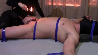 Hard Core Cbt Ból na Dick and Balls z Deep Heat and Candle Wax.